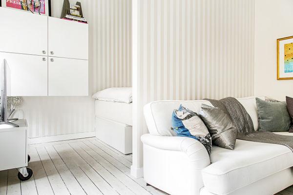 Miniapartamento Estocolmo - Acceso dormitorio
