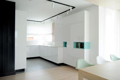 Calido minimalismo - cocina