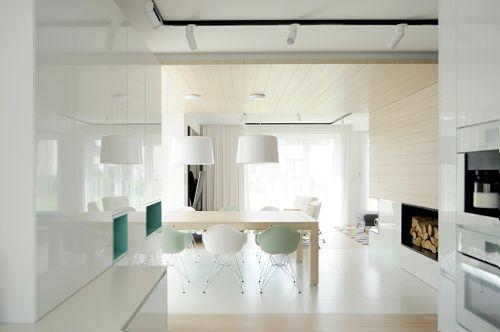 Calido minimalismo - comedor