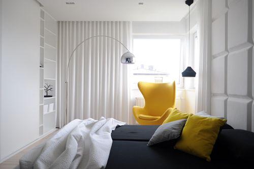 Calido minimalismo - dormitorio