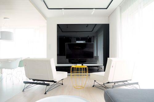 Calido minimalismo - zona estar