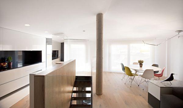 Duplex moderno - planta superior cocina y comedor