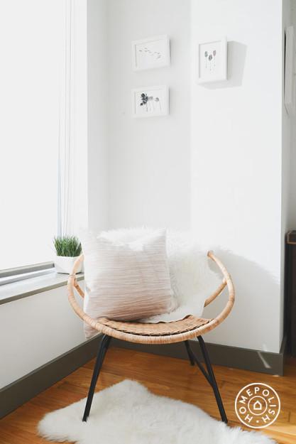 Glam oro, gris y blanco - dormitorio rincon