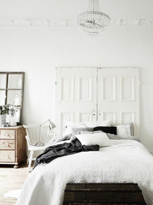 Cabecero puertas retauradas blancas - srta-pepis