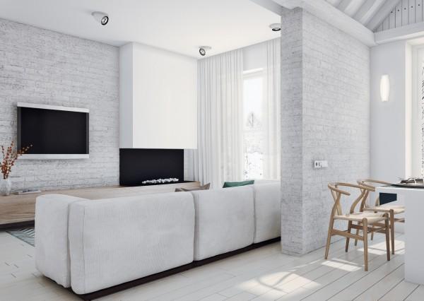 Apartamento femenino - zona de estar y comedor