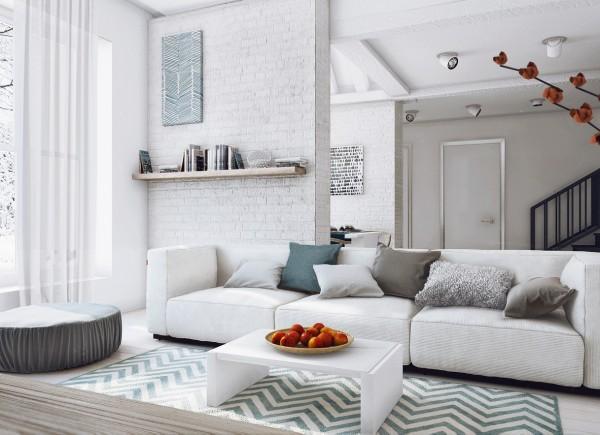 Apartamento femenino - zona de estar