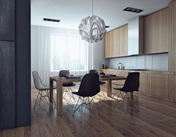 Apartamento masculino - cocina comedor