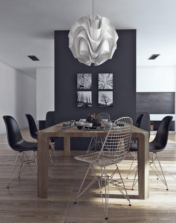 Apartamento masculino - comedor