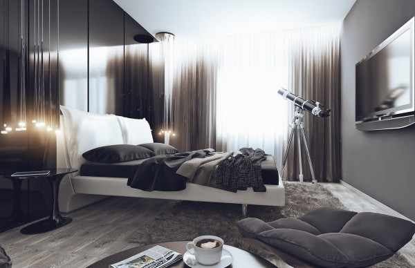 Apartamento masculino - dormitorio