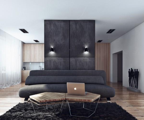 Apartamento masculino - zona de estar