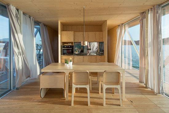 Casa Flotante Interior - comedor cocina