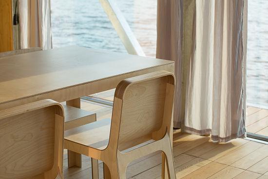 Casa Flotante Interior - comedor detalles
