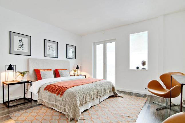 Con toques de naranja - dormitorio