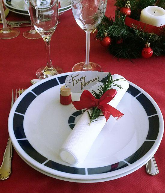 Plato Navidad -Deco servilletas