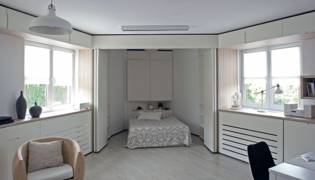 Pocos metros y planta irregular 06 - Dormitorio escondido 2