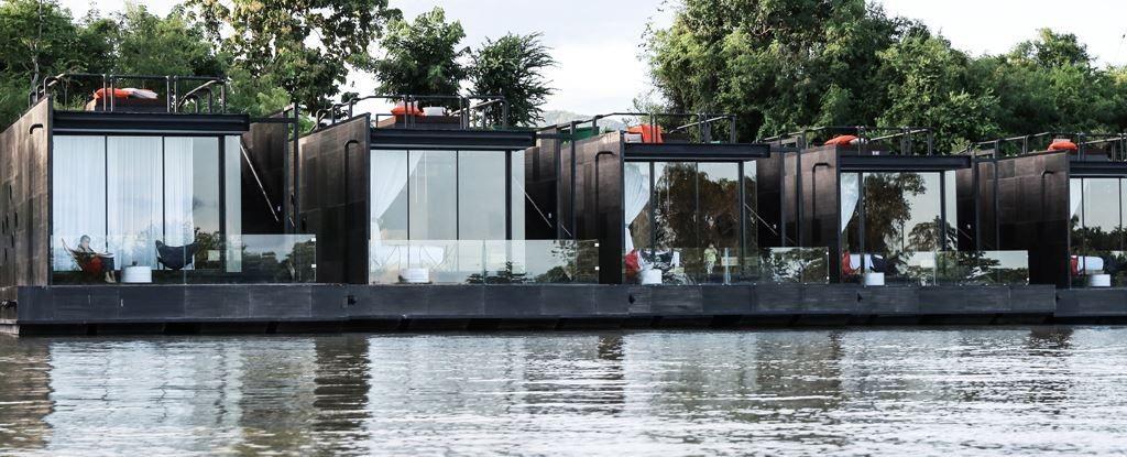 Resort flotante en Tailandia 01 - Estructuras