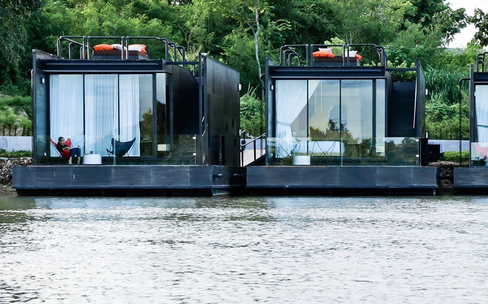 Resort flotante en Tailandia 03 - Estructuras