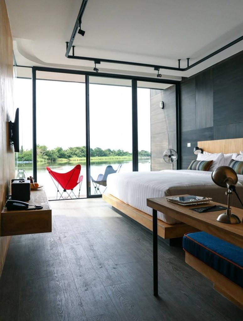 Resort flotante en Tailandia 06 - Interior Dormitorio