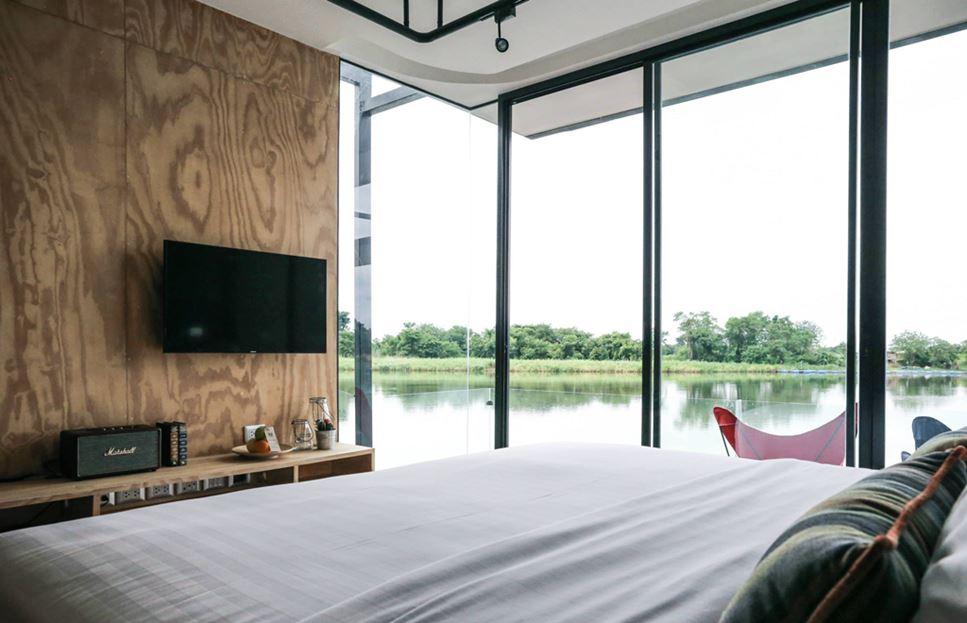 Resort flotante en Tailandia 08 - Interior Dormitorio