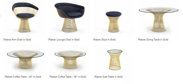 platner coleccion gold