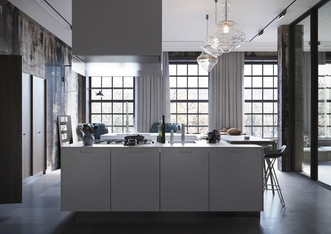 Loft Industrial 02 - cocina